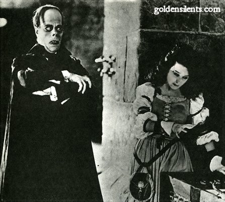 Lon Chaney and Mary Philbin in Phantom Of The Opera (1925 version)