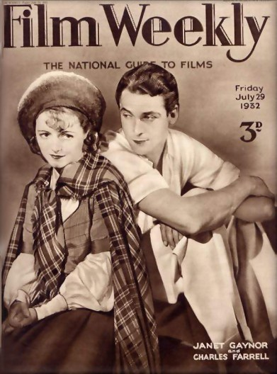 Film Weekly - Janet Gaynor and Charlie Farrell