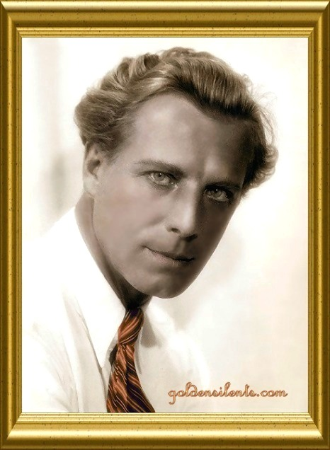 Lars Hanson - Silent and Sound Swedish Film Star, www.goldensilents.com colorized image