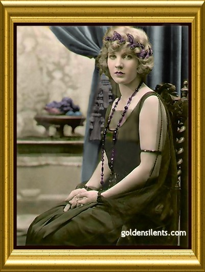 Colorized Mary Miles Minter - Copyright 	 2005 Golden Silents, All Rights Reserved
