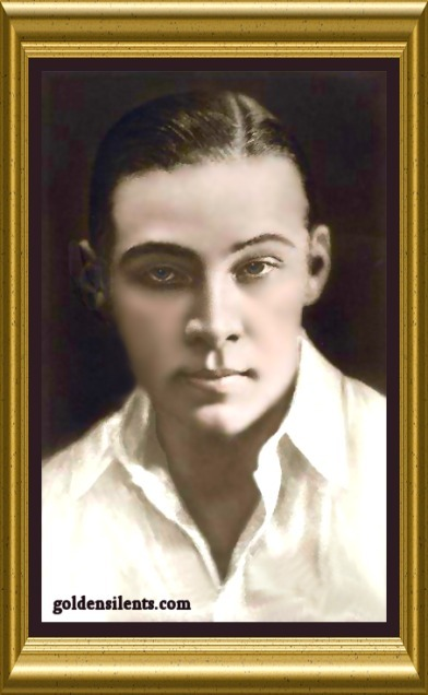 Rudolph Valentino - Silent Film Star - Colorized & Copyrighted www.Goldensilents.com, All Rights Reserved