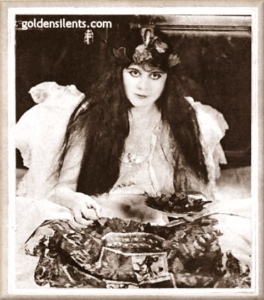 Theda Bara chows down